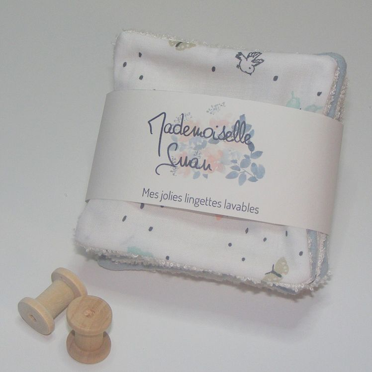 Lingettes lavables, Collection Eddy & Emma